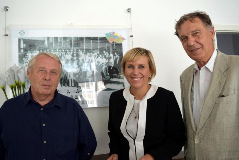07. Jana Vildumetzová s Pavlem Křečkem a Janem Fibigerem
