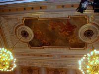 Restaurovaný strop Měšťanské besedy