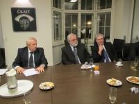 Ing. Pavel Křeček, předseda (ČKAIT), MUDr. Pavel Chrz, prezident a MUDr. Robert Houba, Ph.D., viceprezident (ČSK) - zleva