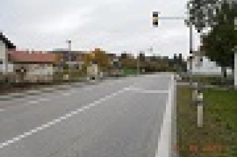 Rizikový železniční přejezd na sil. III/1425 Přechovice